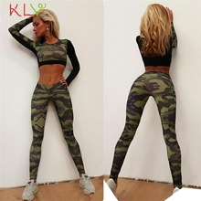 KLV FishSunDay Women Tracksuit Camouflage Stitching Sweatshirt Sets Sport Wear Suit Blouse  Levert Dropship Mar03