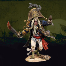 Free Shipping 1/24 Scale 7.5cm Unpainted Resin Figure Monster pirate collection figure(China)