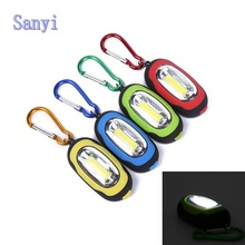 Sanyi Creative COB LED Flashlight Light 3 Modes Mini Lamp Key Chain Ring Keychain PVC Lamp Torch Keyring Green/Red/Yellow/Blue
