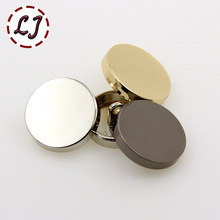 Hot sale 10pcs/lot new fashion decorative buttons high quality plane gold buttons for men shirt suit overcot sewing accessories
