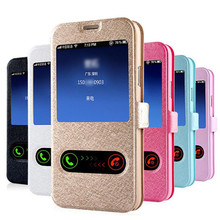 Reliable Stylish Window Leather Flip Case Cover Skin for Samsung Galaxy S5 G900 i9600 Invisible magnetic closure
