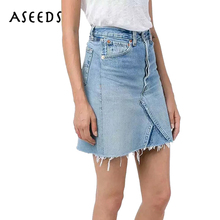 Buy New womens skirts 2018 sexy tassel jeans skirt women vintage black zipper Denim mini skirt Summer beach high waist skirt femlae for $13.99 in AliExpress store