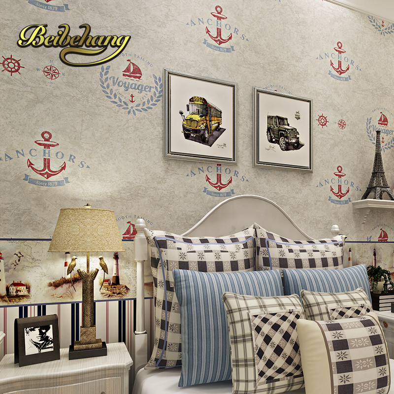 beibehang papel de parede 3D Catoon Pirate Ship Pattern childrens wallpaper for wall 3D Kid Boy Room Wall coverings Child <br>