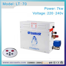 Free shipping 7kw 220-240v Steamist steam bath generator with time and temperature control(China)