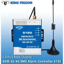 King Pigeon GSM 3G 4G SMS Remote Controller Alarm System 2 DIN 2 DOUT RTU Controller for Automation monitoring System S130