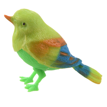New Practical Superior Green Sound Control Beautiful Singing Bird Funny Toy(China)
