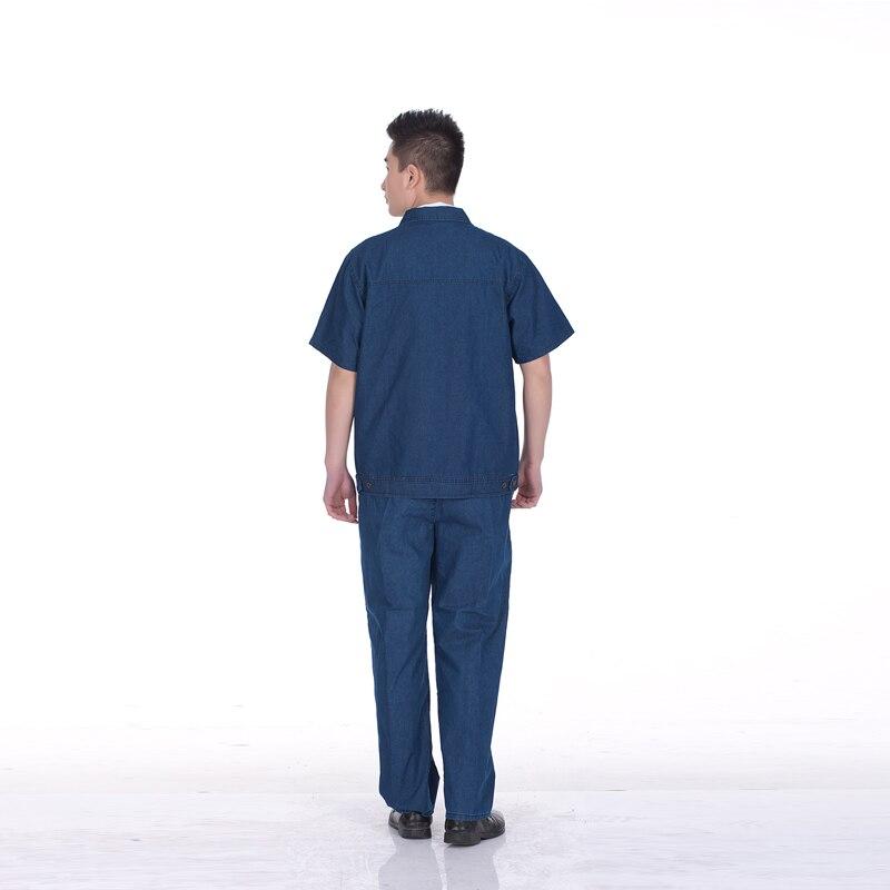 Overalls short-sleeved summer models cotton denim overalls suit male labor insurance overalls summer<br>