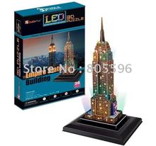 (Paper model)LED Light Building,3D DIY Models,Home Adornment,Puzzle Toy,Paper model,Papercraft,Card model, EMPIRE STATE BULIDING