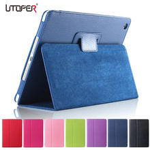 For ipad Mini Case Matte Soft Flip Litchi PU Leather for Apple ipad Mini 1 2 3 Coque Cover Smart Stand Auto Sleep /Wake UP Style(China)