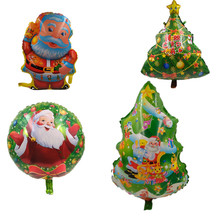 AJP 1piece merry Christmas foil balloons helium balloon inflatable Christmas tree Santa Claus Snowman balloon Christmas supplies