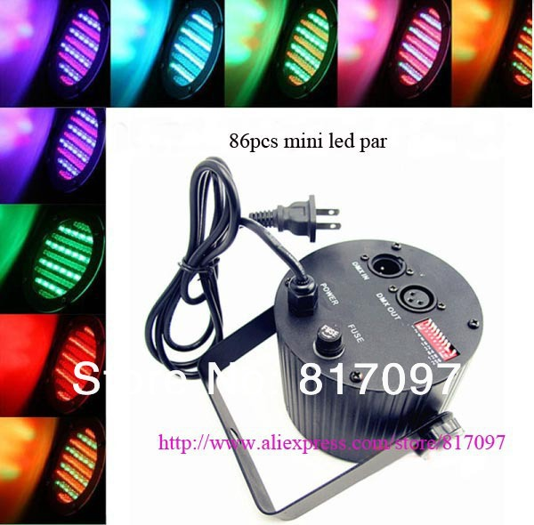 86pcs mini led par RGB flat par party lights 4CH led stage light led disco light party disco dj bar band free shipping<br>
