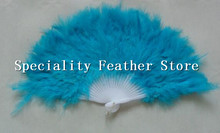 Free Shipping 10PCs/lot Beautiful feather fans for dance props Wedding Hand Fancy Dress Costume mix color(China)