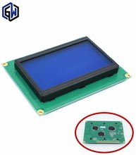 5pcs/lot LCD 12864 128x64 LCD12864 Dots Graphic Blue Color Backlight LCD Display Shield 5.0V(China)