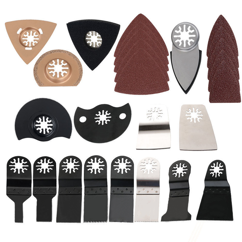 66pcs Oscillating Multi Tool Saw Blades Edge Scraper Sanding Pads Finishing Set For Power Tools Accessories<br>