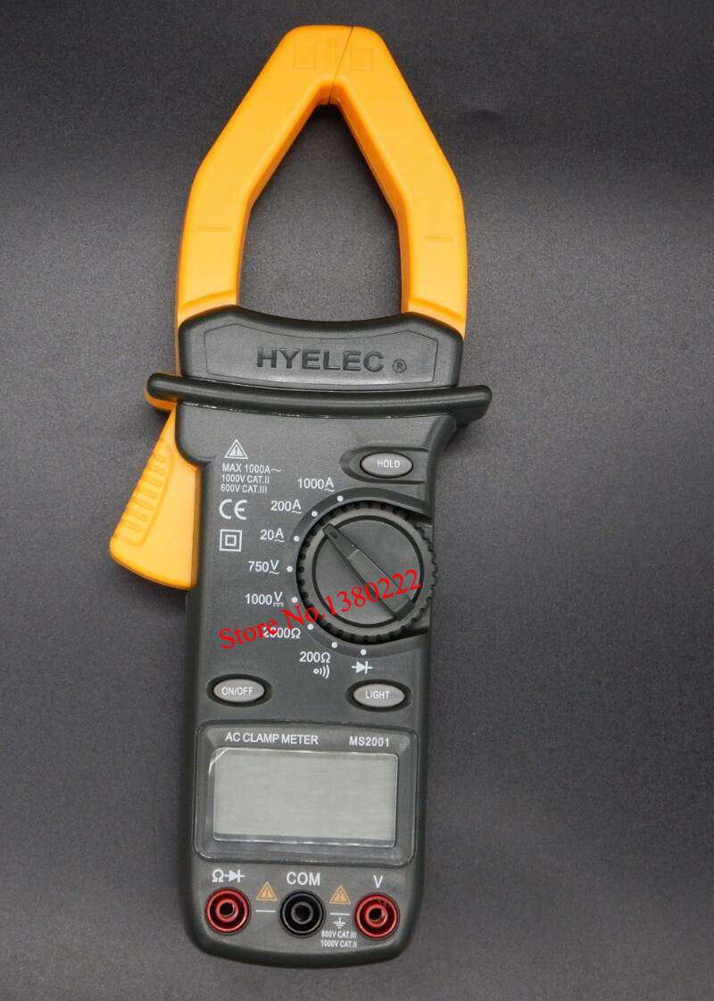 HYELEC MS2001 Digital AC Clamp Meter Clamp Multimeter Megohmmeter Tester Multimeter Multimetro  AC/DC Multimeter Free shipping<br><br>Aliexpress