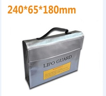 F16390/2 High Quality Fireproof Explosionproof RC LiPo Battery Safety Bag Safe Guard Charge Sack 240 * 180 * 65 mm L M S size(China)