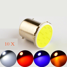 10pcs 1156 COB BA15S LED Bulb P21W 12SMD White / Red / Blue / Yellow Car Lamp Automotive Bulb 12V Truck RV Auto Vehicle Light