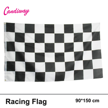 3*5FT Checkered Racing Flag Car Sticker BOMB WRAP SHEET DECAL STICKER Hanging Racing checkered Flag Home Decoration fashion(China)