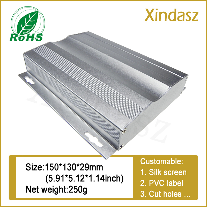 150*130*29mm Slivery aluminum electrical enclosure boxes,aluminum enclosure extrusions Aluminum enclosure / box<br><br>Aliexpress