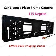 new Car Licence Plate Frame Reverse Camera 135 Degree angle Wireless transmitter receiver system(China)