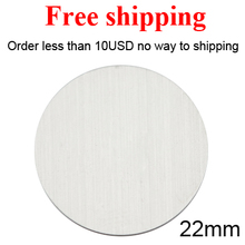 Free shipping Stainless Steel 22mm 316L Custom Blank plates for 30mm Floating glass Lockets(China)