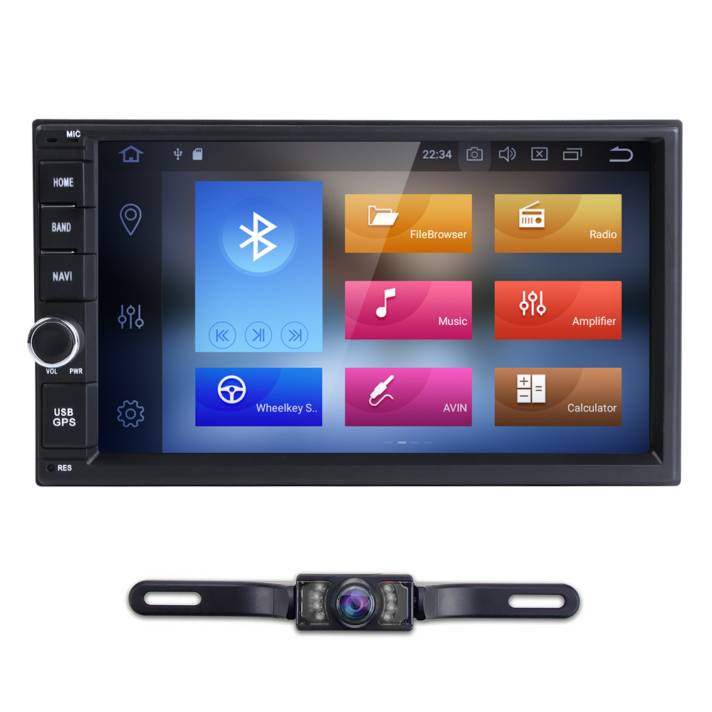 7'' Android 8.0 4GRAM 32GROM Octa Core PX5 Car NO DVD Radio 2din Universal GPS Navigation Stereo Audio HD1024*600 WIFI Bluetooth