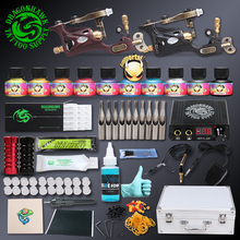 Professional Tattoo kit 2 pcs Rotary Tattoo Machines Immortal Inks Tattoo Power Supply Tattoo Accessories