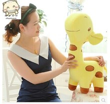 large 60cm lovely cartoon giraffe plush toy doll,throw pillow, Christmas gift b4536(China)