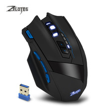 New Zelotes F15 Dual Mode Gaming Mouse Wired + 2.4G Wireless 2500 DPI 9 Buttons USB Computer Mause Mice for PC Laptop Gamer 2016(China)