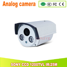 1200TVL SONY CCD Analog camera IR Cut Filter Day/Night Vision home security kamera IR:25M 4MM Lens YUNSYE(China)