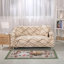 Stripes Universal Stretch Furniture Covers For Living Room Couch Loveseat Sofa Slipcovers Polyester Corner Sofa Slipcovers Plush(China)