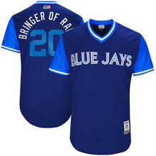 "MLB Men's Toronto Blue Jays Josh Donaldson ""Bringer of Rain"" Navy 2017 Players Weekend Authentic Jersey(China)"