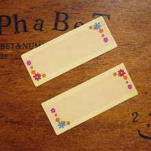 120pcs Floral Border Blank Paper Seal Stickers ,Message Mark Blank Sticker Label