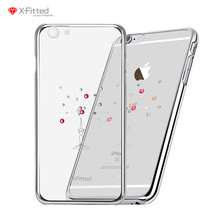 Case for iphone 6 plus 6s plus starry sky crystal iphone case with 15pcs licensed premium Swarovski rhinestone transparent cover