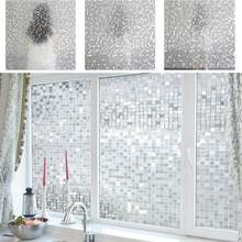 Mosaic Pvc Frosted Opaque Gl Window Decorative Film Self Adhesive Stickers Bathroom Bedroom Decals