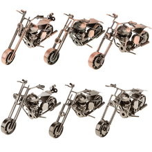 New Handmade Wrought Iron Motorcycle Model Metal Handicraft Artware Craft Collection Toys for Kids Adults Home Table Decoration