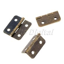 12pcs Furniture Hinge Kitchen Bedroom Living Room Cupboard Closet Wardrobe Hinge for Jewelry Boxes Metal Bronze Hinges 18x16mm