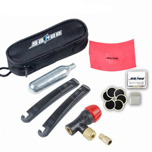 Bicycle Bike Repairing Kit Tools Set Mini Portable Tyre Tire Inflator Pump Compressed CO2 Cylinder Patch Crowbar