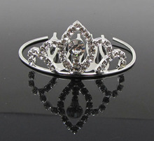 2017 Direct Selling New Arrival Tiaras Trendy Zinc Alloy Small Rhinestone Tiara Crown Wedding Pageant Princess Mini