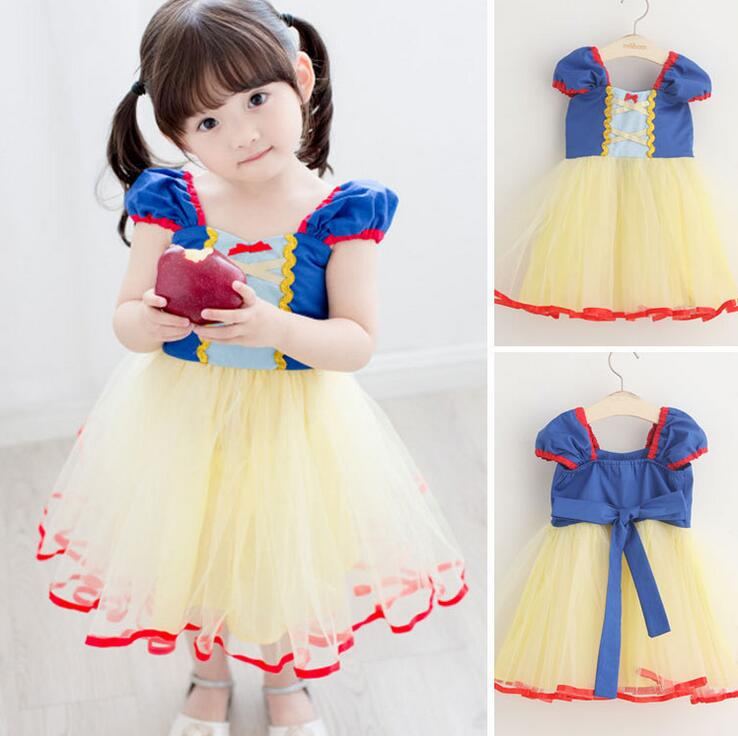 New Girls Snow White Princess Dresses Kids Girls Halloween Party Christmas Cosplay Dresses Costume Children Girl Clothing<br>