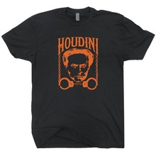 Harry Houdini T Shirt Magic Magician Tricks poster Las Vegas graphic Men's Shirts Men Clothes Novelty Cool