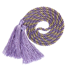 New Hot Sale1 Pair Tassel Rope Curtain Tiebacks Tie Backs Living Bed Room Purple Golden DIY Creative Home Decor Free Shipping