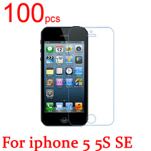 100pcs glossy/Matte/Nano anti-Explosion LCD Screen Protector Film Cover For iphone 4 4S 5 5S SE 5C 3G 3GS Protective Film+cloth