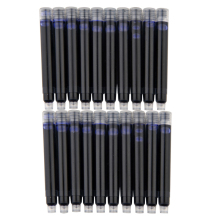 10 Pcs Wholesale Price Disposable Blue Black Red Fountain Pen Ink Cartridge Refills Length Fountain Pen Ink Cartridge Refills
