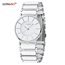 Longbo relogios masculino Mens Watches Top Brand Fancy Black White Ceramic Wrist Watch New Hot On Aliexpress Clock Hours 8317