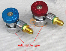 Car Air Condition AC Refrigeration Equment And Fluoride Adjustable Connector Adapter R134a Hi/Lo Quick Connector(China)