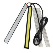 New 2PCS Auto Fashion Bright White COB Car LED Lights DRL Fog Driving Lamp Waterproof DC12V(China)