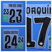 2016 2017 La Liga Home JOAQUIN VAN DER VAART RUBEN CASTRO custom football number font print ,stamping Soccer patch badge