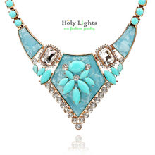2016 new za  geometric crystal chokers necklaces marine pink roses beige statement pendant necklace collar maxi bijoux feme hot