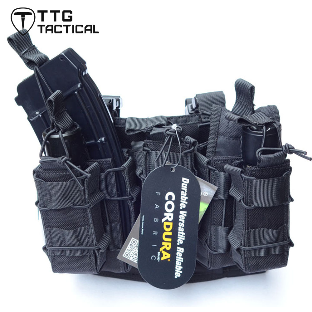 TTGTACTICAL Tactical Drop Leg Platform with Attached Double Decker Magazine Pouch Leg Thigh Rig Holster Pistol Magazine Leg Rig<br><br>Aliexpress